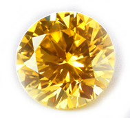 Round brilliant cut cremation diamond