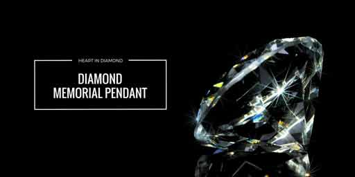 large white diamond with black background