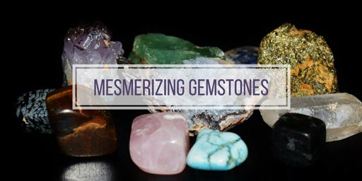 Image of gemstones with text mesmerizing gemstones