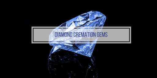 blue diamond cremation gem on black background