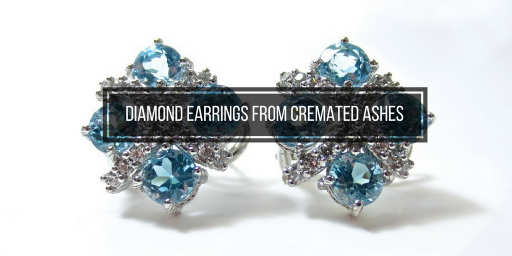 diamond earrings from cremated ashes