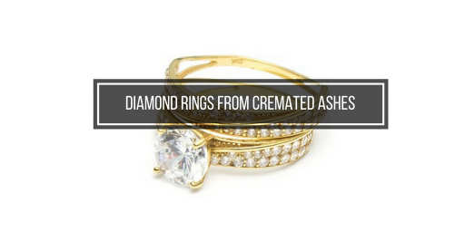 diamond ring made from cremated ashes