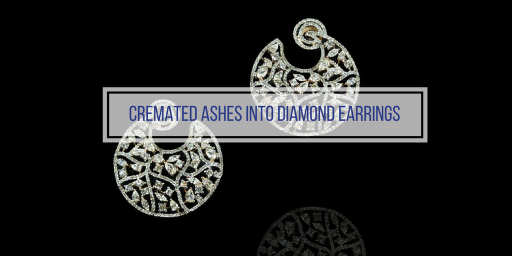 diamond earrings made from cremated ashes