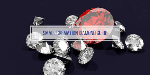 image of small cremation diamonds
