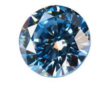 Blue diamond made from cremated ashes image