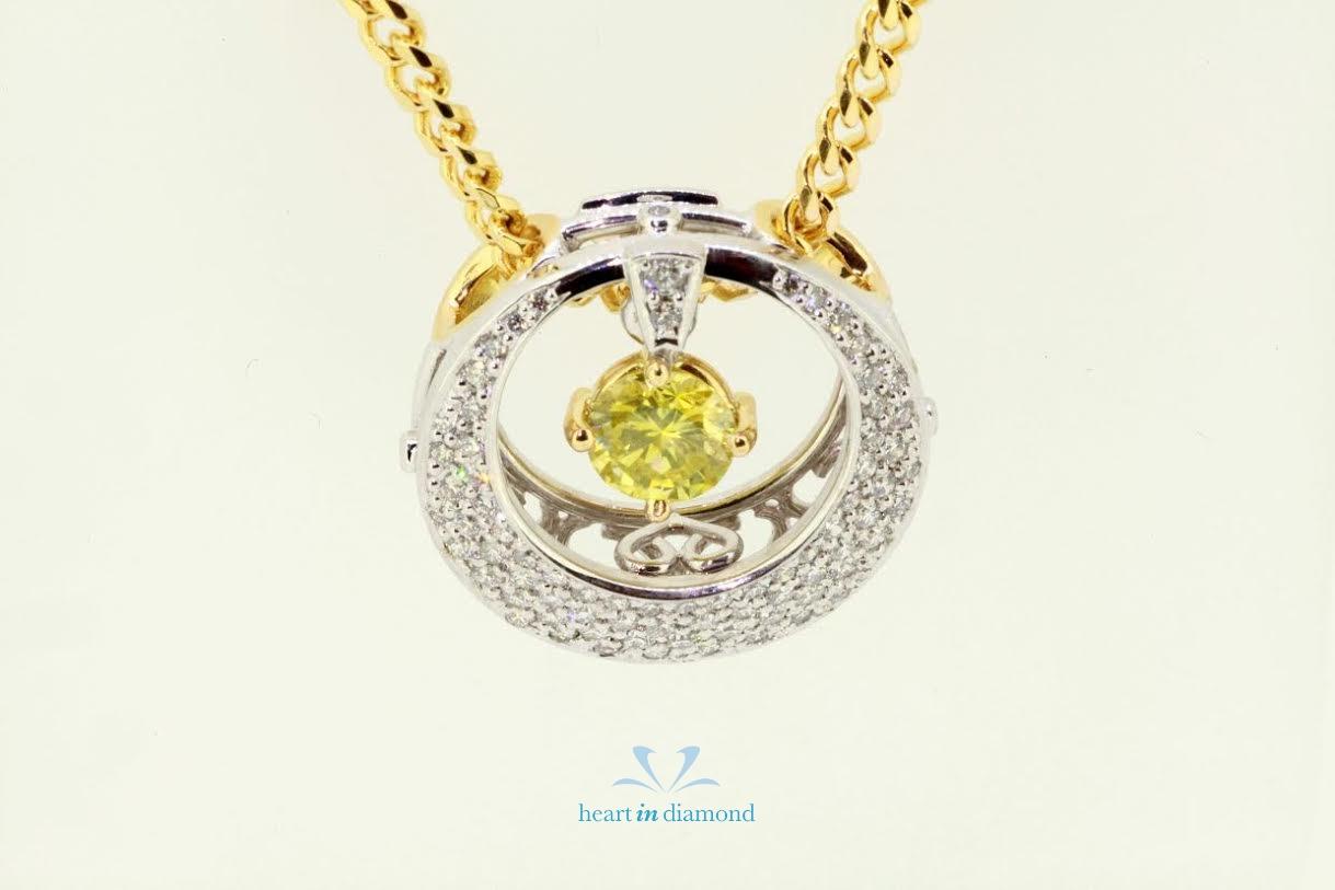 green diamond necklace dog
